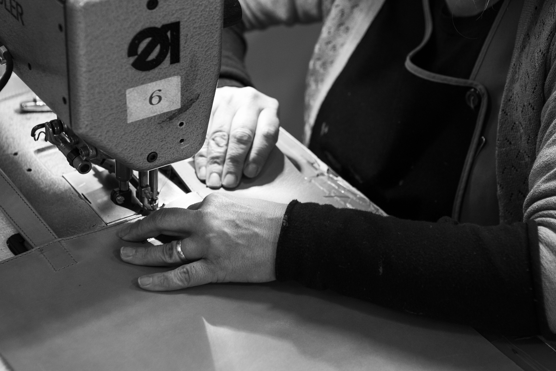 Our leather is cut by hand and assembled by specialized fine bag makers.